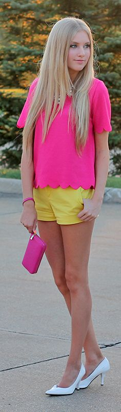Pink Scallop Blouse