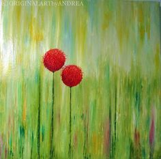 Abstract Acrylic Painting Original by ORIGINALARTbyANDREA on Etsy