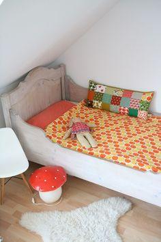 kids room, vintage fabrics, graziela, patchwork cushion | fräulein Otten