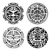 Set of polynesian tattoo — Stock Vector #78889712