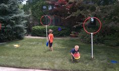 Outdoor+Lawn+Games | Outdoor Adventure Lawn Yard Games 3-Hole Outdoor Disc Golf Course ...