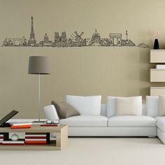 Removable Home Decor Paris Eiffel Tower Art Decal Bedroom Wall Sticker Mural DIY Vinyl Wall Quotes, Vinyl Wall Decals, Wall Stickers, Skyline, Solid Wood Furniture, Wall Design, Home Goods, Bedroom Decor, Interior Design