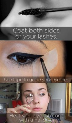 13 Makeup Tips No One Ever Told You. I found this very helpful and I am using these tips and tricks lately and they are working very well! I am finding when I use these tips my make up looks better and more natural! All Things Beauty, Beauty Make Up, Diy Beauty, Beauty Hacks, Fashion Beauty, Make Up Tricks, Tips & Tricks, Eye Tricks, Love Makeup