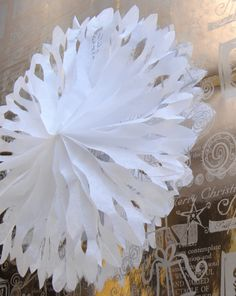 Tissue paper snowflake tutorial