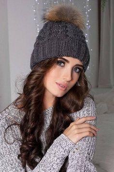 Crochet Toboggan Crochet Wolf Hat Pattern Crochet Hat With Ears Pattern Varsity Caps Crochet Wolf, Wolf Hat, Fur Pom Pom Hat, Knitted Hats, Crochet Hats, Ski Hats, Winter Hats For Women, Knit Beanie Hat, Mode Outfits