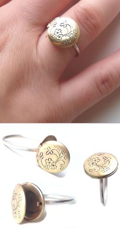 Small Locket Ring ♥ SO cUte!perfect for storing my cocaine.. said sarah michelle geller a la cruel intentions