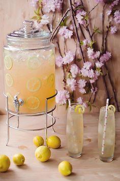 Orange blossom grapefruit lemonade - orange blossom water, pamplemousse (grapefruit liqueur), vodka, and lemonade