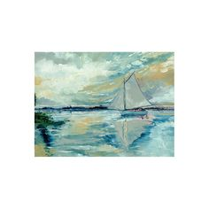 Boats on Broads Canvas Giclee Print