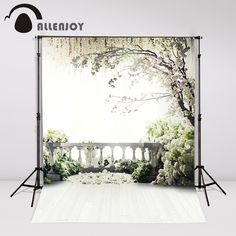 16.73$  Watch now - http://alizo9.shopchina.info/go.php?t=32575714182 - Allenjoy 300x200cm (6.5ftx10ft) Flowers Photo Background trees garden loft wedding Photography backdrops Studio Interior Photos 16.73$ #SHOPPING