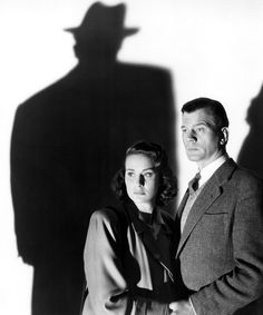 Alida Valli and Joseph Cotten (and the shadow, supposedly, of Orson Welles) in a publicity photo for The Third Man (Carol Reed, Old Hollywood, Classic Hollywood, Hollywood Actresses, Classic Movie Stars, Classic Movies, Carol Reed, Joseph Cotten, The Third Man, Orson Welles