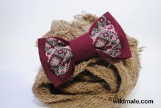 Mens bow tie Embroidered vinous bowtie Groomsman bowtie Burgundy marsala Men's bow tie Gifts under Linen Bowtie Purple Boys bowtie Bowties - http://wildmale.com/mens-bow-tie-embroidered-vinous-bowtie-groomsman-bowtie-burgundy-marsala-mens-bow-tie-gifts-under-linen-bowtie-purple-boys-bowtie-bowties
