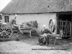 Note the window and ground. Irish Life: Spinning Wheel, between Robert French Old Pictures, Old Photos, Vintage Photographs, Vintage Photos, Images Of Ireland, Ireland Pictures, Irish Celtic, Gaelic Irish, Irish Culture