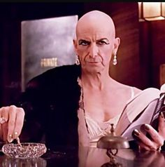 When someone interrupts your reading.  Liz Taylor,  American Horror Story Hotel. Played by Denis O'Hare