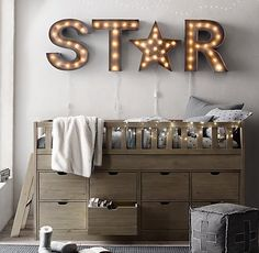 RH Baby & Child | Vintage Illuminated Marquee Letters