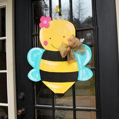 Spring Door Hanger Summer Door Decor Bumblebee by LooLeighsCharm, $45.00