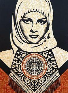 Arabian Woman by Frank Shepard Fairey