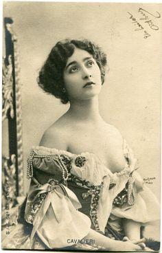Vintage French RPPC Postcard Actress Stage Star Miss Cavalieri Reutlinger   eBay