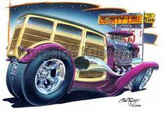 Chris Froggett hot rod art Cartoon Car Drawing, Car Drawings, Cartoon Art, Cars Cartoon, Woody, Hot Rods, Cartoons Magazine, Classic Hot Rod, Truck Art