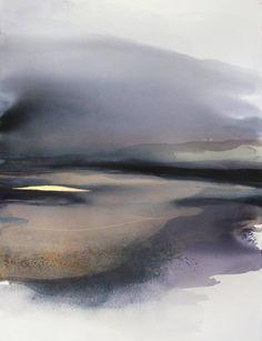 "Saatchi Art Artist Sabrina Garrasi; Painting, ""Sandy Plains  /  Large Watercolor Landscape"" #art"