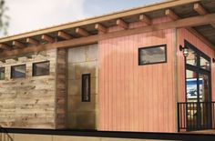 Wheelhaus builds the next generation of modular prefab cabins. Our Wheelhaus tiny homes are eco friendly modular luxury cabins on wheels. Prefab Cabins, Prefab Homes, Modular Homes, 1200 Sq Ft House, Park Model Homes, Backyard Office, Luxury Cabin, Cabin Design, Spacious Living Room