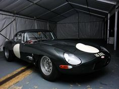 """Jaguar XKE """"Lightweight"""" race car...  Jags never had the best track record for reliability but they built some really great looking cars."""