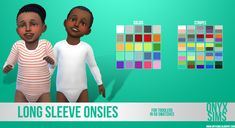 Sims 4   Long Sleeve Onsie #onyxsims CAS clothing fullbody male female toddler sleepwear new mesh