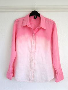 Don't be so quick to toss out clothing with a bleach mark or stain: How to: Ombre bleach/dip dye shirt and jeans!