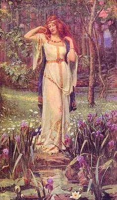 Freya and the Necklace . Freya goddess of love, beauty, gold, fertility, war . Norse mythology J Doyle Penrose Norse Goddess Of Love, Celtic Goddess, Earth Goddess, Celtic Mythology, Goddess Art, German Mythology, Symbole Viking, Mother Goddess, Beltane