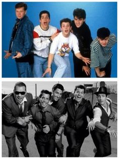 NKOTB then & now- 25 years later still going strong, having fun and keeping their places in my heart!