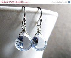 SPRING SALE 15% OFF Blue Diamond Teeny earrings by SueanneShirzay