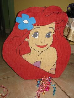 Piñata for Cora's party! We did pull string so hopefully she won't get too messed up and Cora won't get upset:)