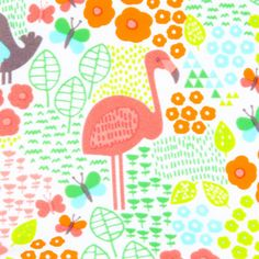 flamingo Flamingo Illustration, Cute Animal Illustration, Animal Illustrations, Surface Pattern, Pattern Art, Pattern Design, Flamingo Art, Flamingo Pattern, Summer Prints