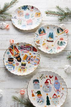 Noel Canape Plate. These adorable festive illustrations are getting us into the Christmas spirit! Perfect for displaying canapes and small treats this season.