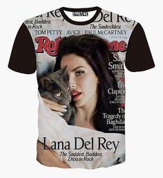 49c9b15c270 2015 New lana del rey Magzine 3D print Mens Womens Tee Animal T shirt Funny  Top