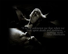 Everything Harry Potter Quotes By Famous People, People Quotes, Michael Gambon, Always Harry Potter, Fandom Quotes, Fear Of The Unknown, Quality Quotes, Albus Dumbledore, Powerful Words