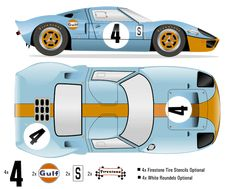 The Ford GT first captured the hearts and minds of many drivers around the world in the A mid-engine, two-seater sports car produced by Ford Ford Gt40, Le Mans, Car Top View, Ferrari, Road Race Car, Firestone Tires, Gt 500, Busse, Vintage Race Car