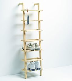 Wooden Ladder Shoe Rack - Tall - Shoe Racks | Shoe Storage Shelves | Boot Racks | Welly Stands