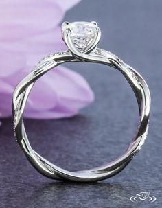 Diamond Twist Engagement Ring. Green Lake Jewelry 108692
