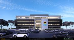 First National Bank Head Offices Rendering, Bloemfontein, Free State, Bomax Architects