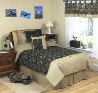 Bedroom Decor Ideas and Designs: Army Military Camo Themed Bedroom Decor Ideas