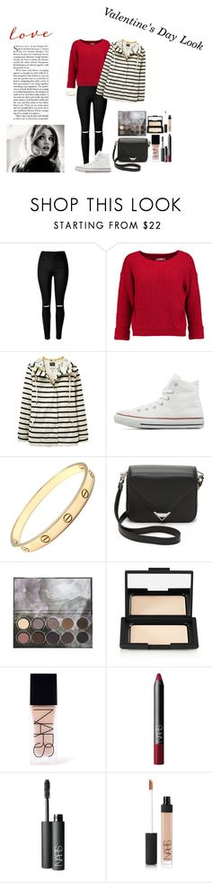 """""""Valentine's Day Look"""" by silly-stegosaurus ❤ liked on Polyvore featuring Rebecca Minkoff, Joules, Converse, Cartier, Alexander Wang, NARS Cosmetics, women's clothing, women, female and woman"""
