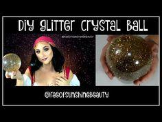 DIY Glitter Crystal Ball | Fortune Teller | Halloween | Rae of Sunshine Beauty - YouTube