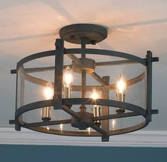 Kitchen lighting by door - Clearly Modern Semi-Flush Ceiling Light - Shades of Light - traditional - ceiling lighting Hallway Lighting, Dining Room Lighting, Bedroom Lighting, Accent Lighting, Lighting Shades, Home Office Lighting, Entrance Lighting, Bedroom Ceiling, Farmhouse Lighting