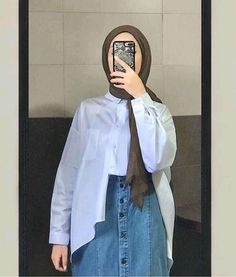 Modest Fashion Hijab, Street Hijab Fashion, Casual Hijab Outfit, Hijab Chic, Muslim Fashion, Ootd Hijab, Hijab Style Tutorial, Hijab Fashionista, Stylish Dresses For Girls