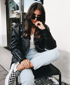 Women Fashion New Fashion Oufits Casual, Casual Outfits, Fashion Outfits, Jeans Fashion, Style Fashion, Womens Fashion Online, Latest Fashion For Women, Checkered Vans Outfit, Outfit Goals