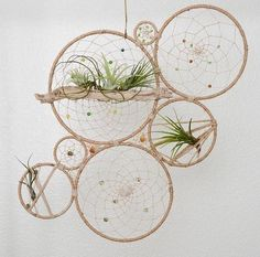Wow talon at this! Tillandsia Jungalow Dream Catcher Wall Art - Natural Air Plant Dreamcatcher Wall Hanging - Modern Bohemian Wall Accent - Wedding Backdrop by MatriartBoutique on Etsy (bohemian beach art) Bohemian Wall Art, Modern Bohemian, Bohemian House, Bohemian Beach, Diy And Crafts, Arts And Crafts, Creation Deco, Deco Floral, Modern Wall Decor
