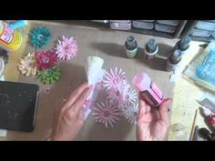 Twisted paper cord flower no.2 tutorial using Sizzix Flowers die #2