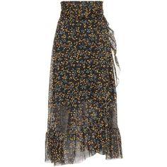 Ganni Tilden Maxi Skirt (1.205 DKK) ❤ liked on Polyvore featuring skirts, black, ganni skirt, ankle length skirts, long skirts, ganni and floor length skirt