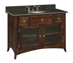 "Amish 49"" Santa Barbara Single Bathroom Vanity Cabinet"