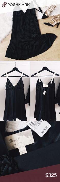 "ᴇʟɪᴢᴀʙᴇᴛʜ ᴀɴᴅ ᴊᴀᴍᴇs ᴄᴏᴄᴋᴛᴀɪʟ ᴅʀᴇss NWT ""Sophie"" cocktail dress. This dress is pleated and has an empire waist. Gorgeous silky material that is free flowing. The straps on this dress are adjustable. Pair your favorite heels with this little black dress and wear it to your next special occasion!   ‣sʜᴇʟʟ: 100% ᴘᴏʟʏᴇsᴛᴇʀ, ʟɪɴɪɴɢ: 55% ɴʏʟᴏɴ, 45% sɪʟᴋ ‣ʟᴇɴɢᴛʜ: ᴀᴘᴘʀᴏx. 32"" ‣ʙᴜsᴛ: 13 1/2"" / 27"" (ʟᴀʏɪɴɢ ғʟᴀᴛ)   ✨Pet friendly home ✨Please feel free to ask any questions! ✨Reasonable offers are…"